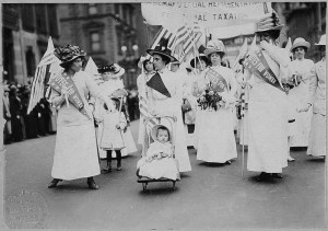 Suffragettparad i New York 1912