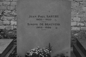 Simone de Beauvoir och Jean Paul Sartres grav
