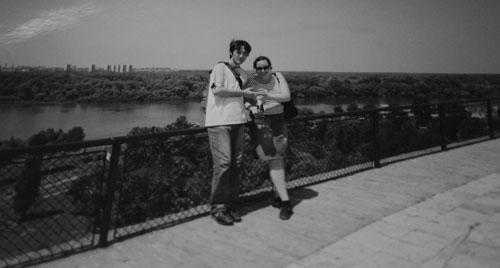 Jag och Petar vid Donau