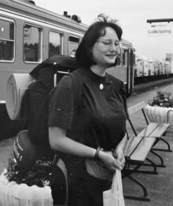 Jag på tågstastionen i Lidköping