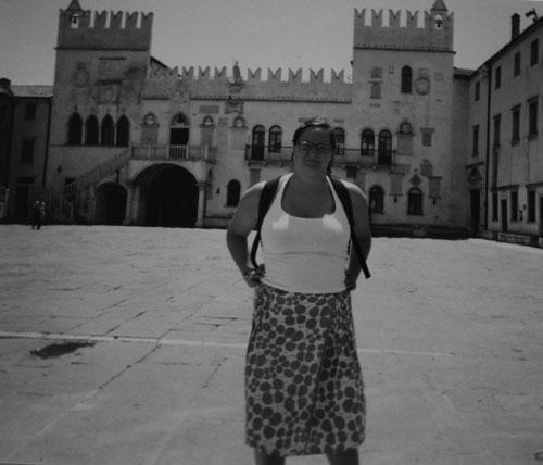 Jag på Titotorget i Koper