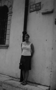 Mia på Titotroget i Koper