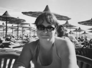 Hanna på stranden