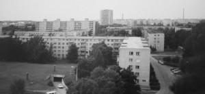 Utsikt från mina vänners köksfönster i Mustamäe