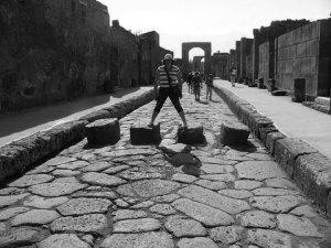 Övergångsställe i Pompeji