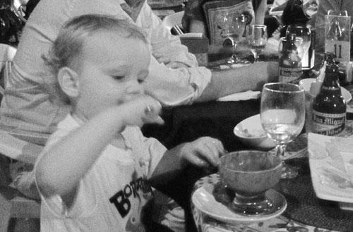 Hugo äter glass