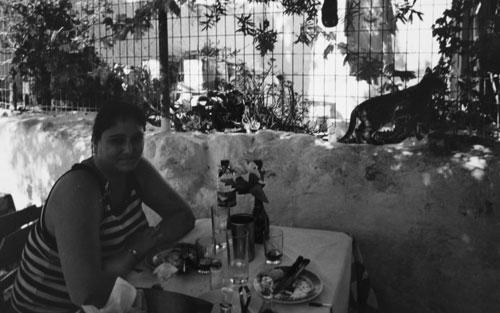 Äta mormors moussaka i Rethymno