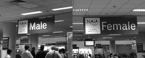 Säkerhetskontrollen på flygplatsen i Manilla