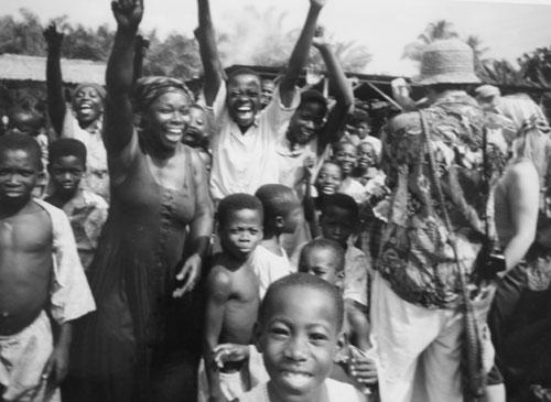 Liberala supporters i Ghana