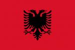 albaniens-flagga