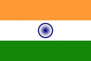 Indiens flagga