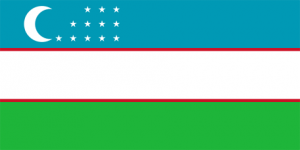 uzbekistans flagga