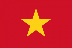 vietnams flagga