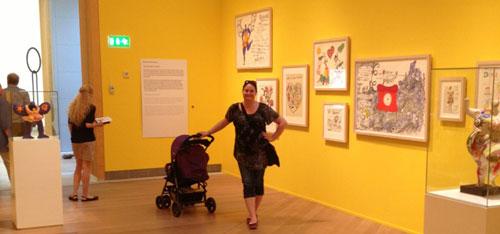 Jag på Moderna Museet