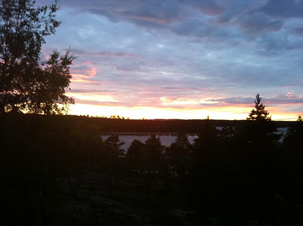 Solnedgång över Bottenviken