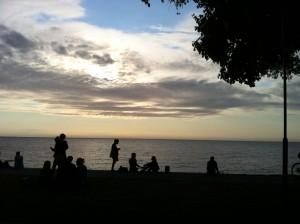 Solnedgång över Visby