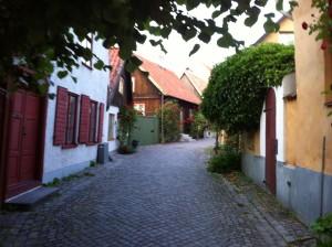 Mysig gränd i Visby