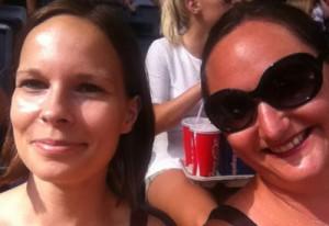 Jag och Alexandra på Friends Arena