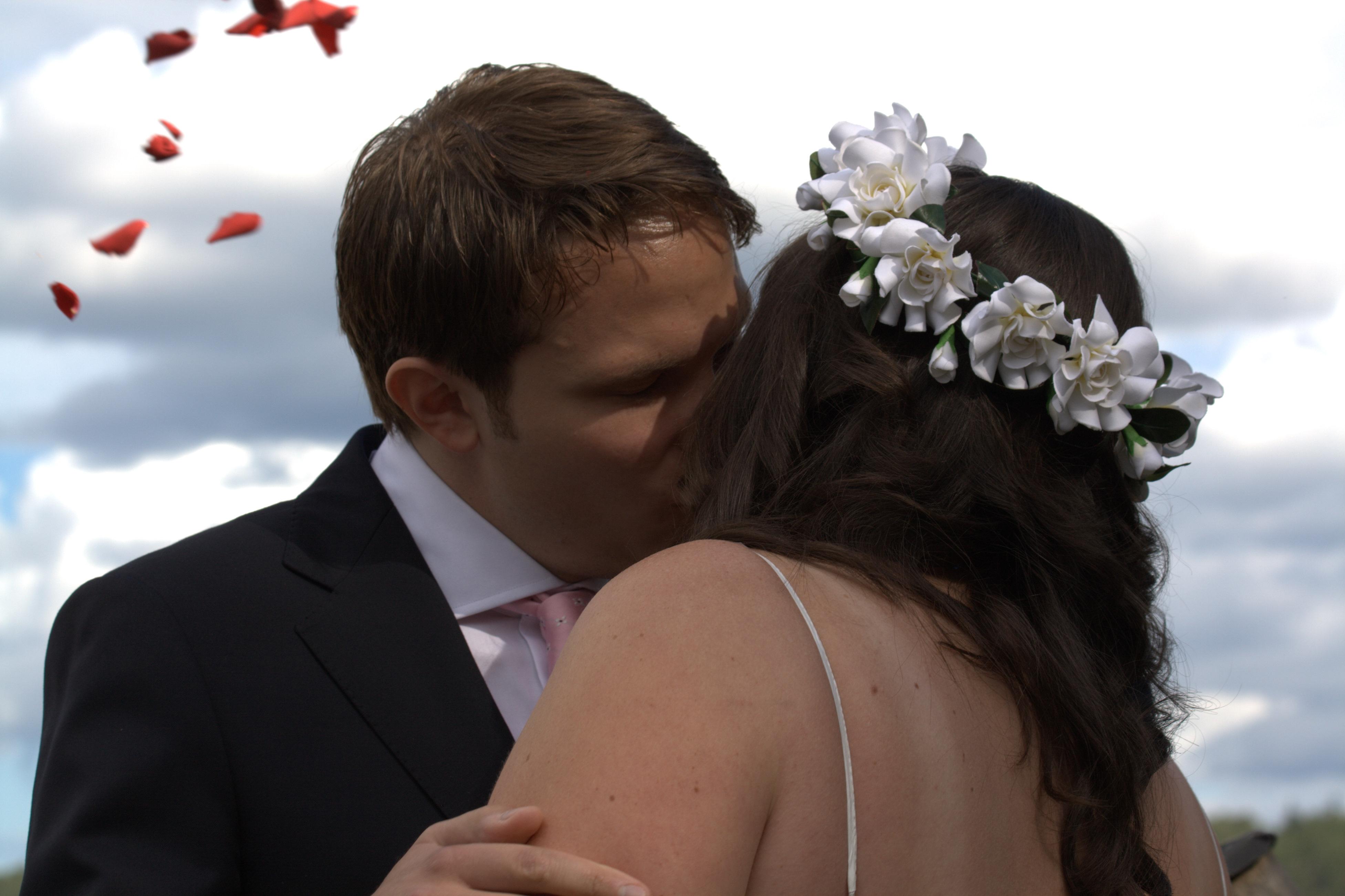 Bröllopskyssen!
