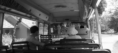 Shuttelbus på hotellet på Bintan