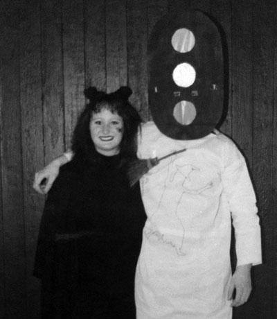 Jag och Niels på väg till Halloweenfest