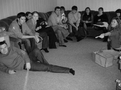 Teambuilding med ukrainska liberala ungdomspolitiker