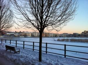 Vinter i Hammarby Sjöstad