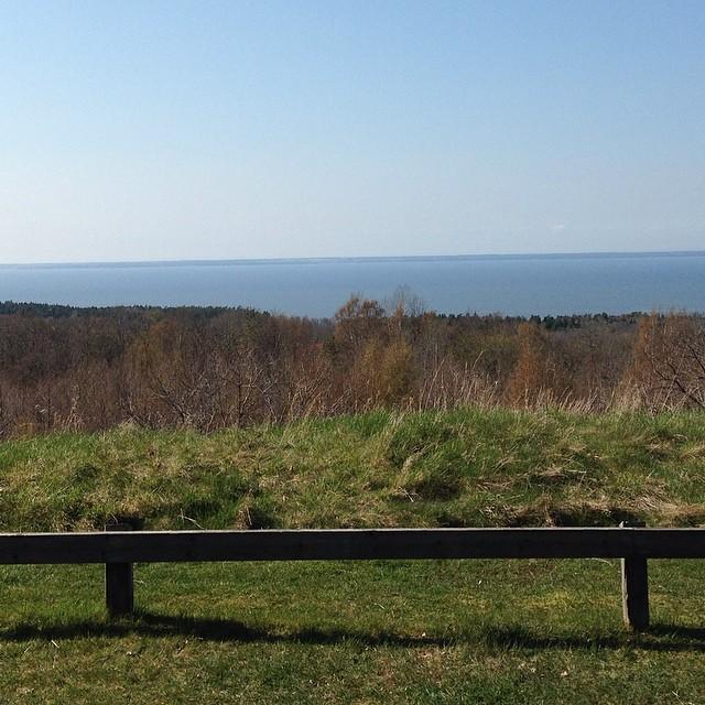 Utsikten på Kinnekulle