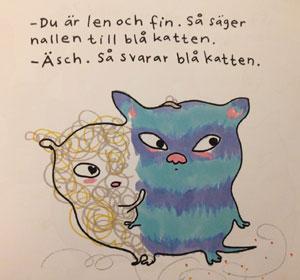 Nalle och blå katten
