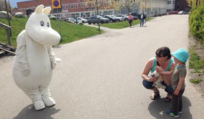 Mumin på besök i Gustavsberg