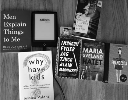 Sommarböcker och en läsplatta
