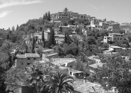 Byn Deia på Mallorca