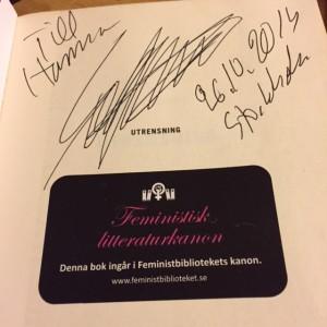 Sofi Oksanens autograf