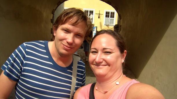 Hanna och Andreas i Riga