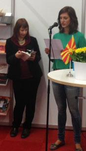 Lidija Dimkovska ska läsa en dikt