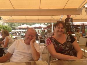 Jag och min pappa på hans 70-årsdag