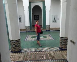 Jag i Marakechs gamla flickskola