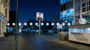Mur av ljus i Berlin