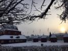 Torget i Lidköping i vinterskrud