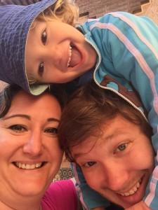 Hela familjen i Marrakech 2014