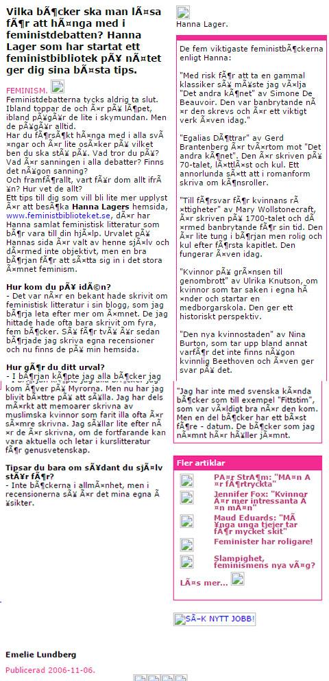 Artikel i Salong K