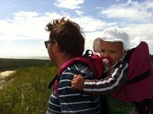 Hugo och Andreas på Stora dynorna i Nida