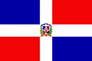 Dominikanska republikens flagga