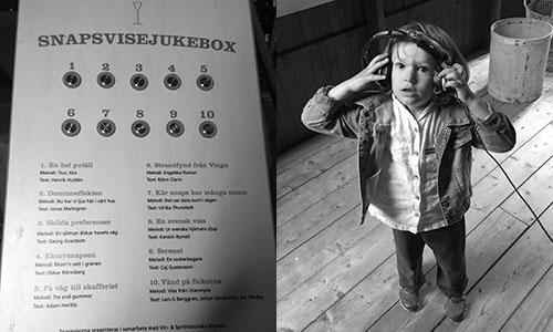 Snapsvisejukebox på Surströmmingsmuseet