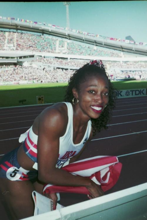 Gail Devers på VM i Friidrott 1995