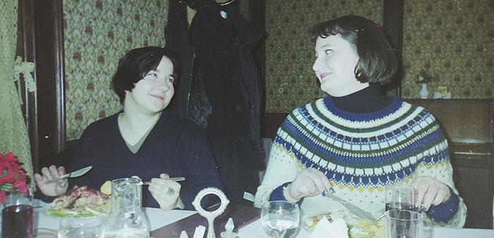 Julia och jag i Bratislava 1999