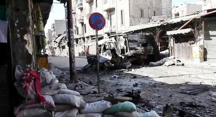 Bombat Aleppo, Syrien