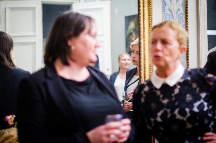 Jag och Maria Arnholm på Företagarnas höstmingel 2015