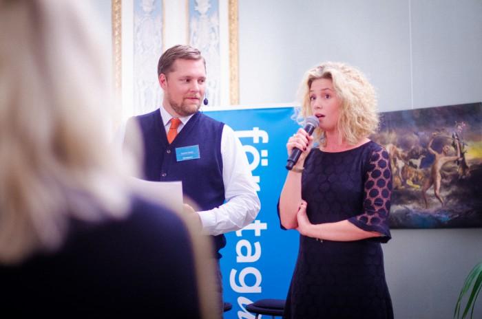 Amanda Colldén pratar på Företagarnas höstmingel 2015