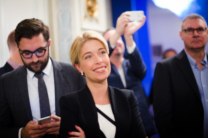 Socialförsäkringsminister Annika Strandhäll på Företagarnas höstmingel 2015